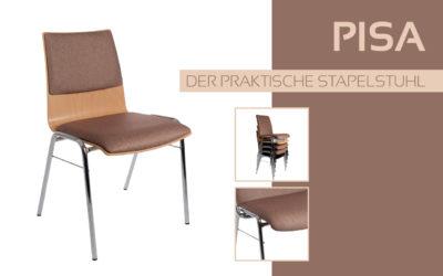 Göhler Sitzmöbel GmbH - Sitzmöbel für jede Gelegenheit: Modellreihe PISA, der praktische Stapelstuhl