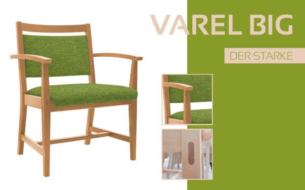 Göhler Sitzmöbel GmbH - Sitzmöbel für jede Gelegenheit: Modellreihe VAREL BIG, der Schwerlaststuhl