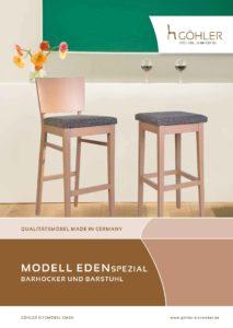 Göhler Sitzmöbel GmbH - Sitzmöbel für jede Gelegenheit: Prospekt EDEN Spezial