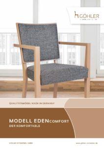 Göhler Sitzmöbel GmbH - Sitzmöbel für jede Gelegenheit: Prospekt EDEN COMFORT