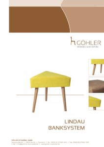 Göhler Sitzmöbel GmbH - Sitzmöbel für jede Gelegenheit: Prospekt LINDAU Banksystem