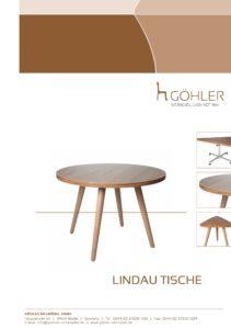 Göhler Sitzmöbel GmbH - Sitzmöbel für jede Gelegenheit: Prospekt LINDAU Tische