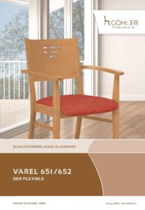 Göhler Sitzmöbel GmbH - Sitzmöbel für jede Gelegenheit: Prospekt VAREL 651/652