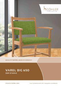 Göhler Sitzmöbel GmbH - Sitzmöbel für jede Gelegenheit: Prospekt Schwerlaststuhl VAREL BIG