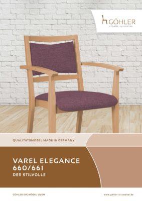Göhler Sitzmöbel GmbH - Sitzmöbel für jede Gelegenheit: Prospekt VAREL ELEGANCE