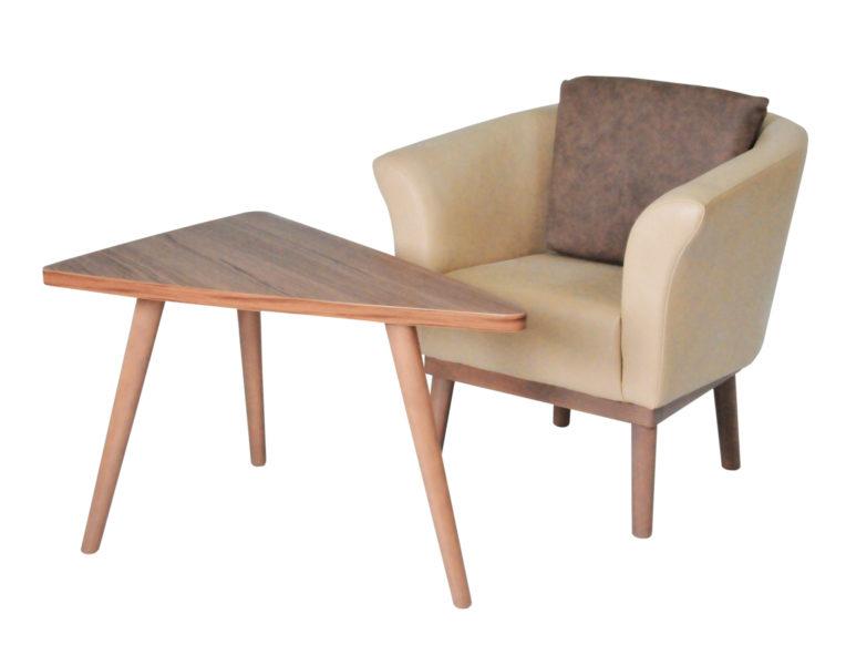 Göhler Sitzmöbel GmbH - Sessel Jade light und Tisch LINDAU