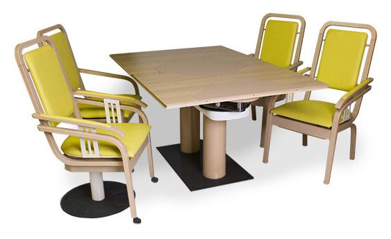 Göhler Sitzmöbel GmbH - Funktionsstuhl ROTUMA mit Tisch