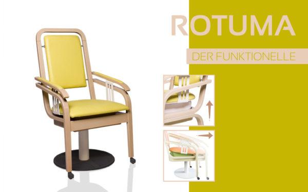 Göhler Sitzmöbel GmbH - Sitzmöbel für jede Gelegenheit: Funktionsstuhl ROTUMA