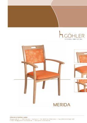 Göhler Sitzmöbel GmbH - Prospekt MERIDA